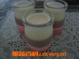 果蔬百科木瓜香草双色布丁